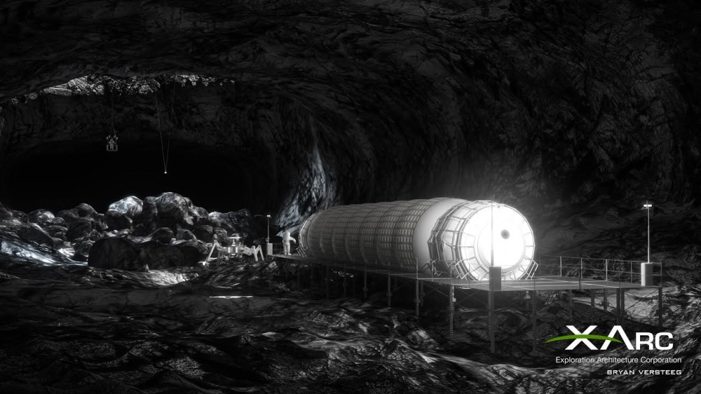 Different forms of lunar architecture designs must be tested prior to deployment. Image courtesy of Exploration Architecture Corporation.